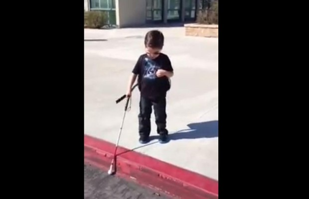 Blind Boy Conquers His Fear Of Curbs And Wins Our Hearts In The Process