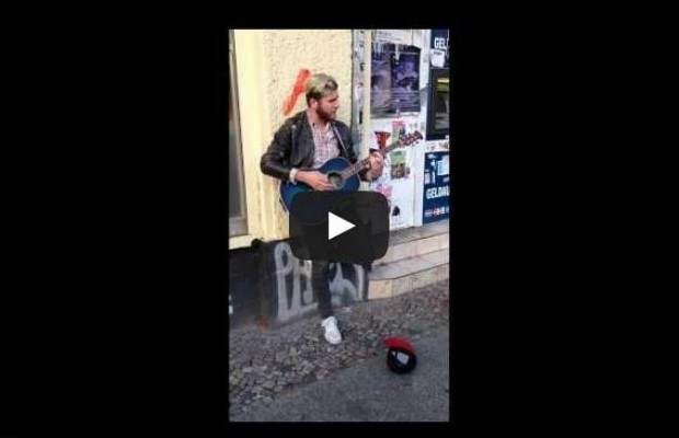 80s Singer Walks By As Street Musician Is Singing His Song, Joins In