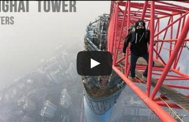 Russian Climbers Tackle Shanghai Tower