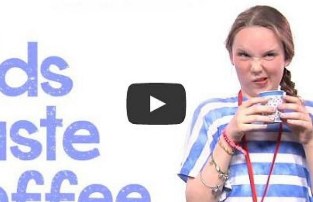 Kids Taste Coffee For The First Time