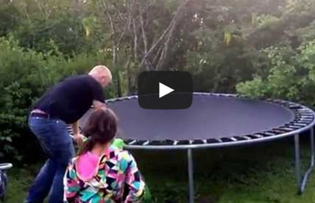 Drunk Guy Tries Trampoline